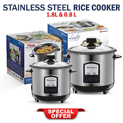 Safe Automatic Electric Rice Cooker Steamer Stainless Steel Nonstick Keep Warmer