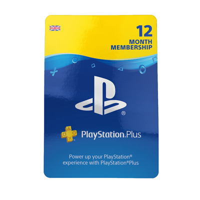 PlayStation Network Plus 12 Month Membership Physical Version