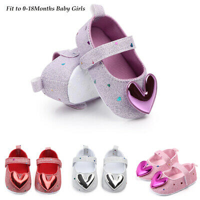 Infant Toddler Kids Girls Indoor Shoes Heart-Shaped Princess Baby Walking Shoes