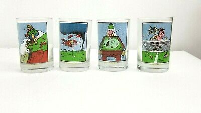 Set of 4 Vintage 1982 Arby's Collector Series Gary Patterson Drinking Glasses