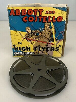 "Castle Films Vintage 16mm Abbott and Costello ""High Flyers"""