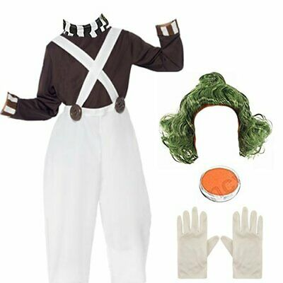Childrens Kids Factory Worker Fancy Dress Costume Add Wig Paint World Book Day