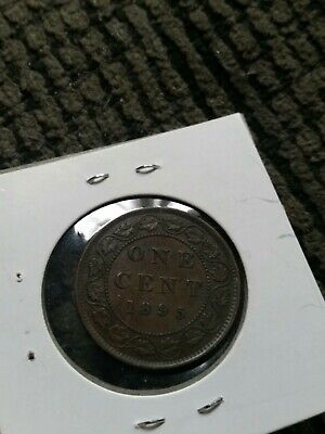 1895 Large Penny Queen Victoria Canadian One Cent Coin Canada Low 5 !!!!