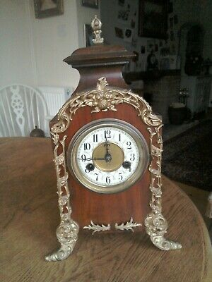 Antique late 19th century Mantle clock French style German made by HAC A/F