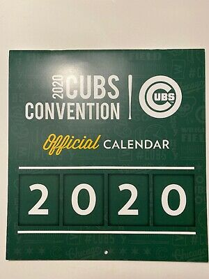 2020 Cubs Convention Official Calendar IN HAND! Cubs Con 2020 BRAND NEW!!