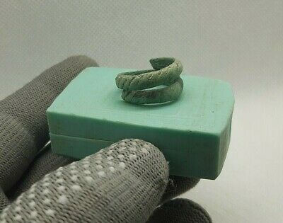 Perfect Ancient Jewelry temporal  Bronze Ring Viking Kievan Rus 9-12 cen.AD #201
