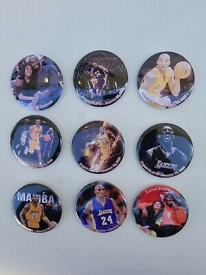 Kobe bryant Pins Buttons12 pcs mix picsZise 2.25 metal 100% made in USA
