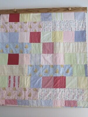 Homemade Winnie The Pooh Quilt 35 Inches Wide By 38 Inches Long