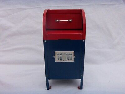 """Vintage Superior Toy Co Us Post Office Mailbox Coin Bank  9"""" Tall"""