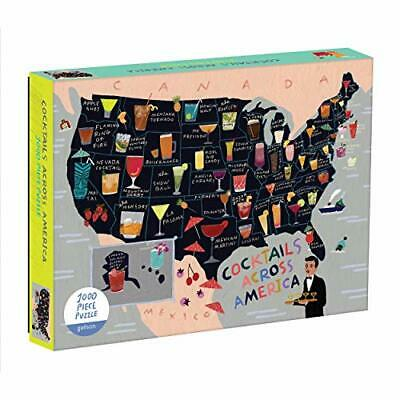 Cocktail Map Of The Usa 1000 Piece Puzzle BOOKH NUEVO