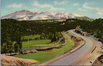 Postcard Divided Back Unposted Above Woodland Park Colorado Pikes Peak 14000 ft