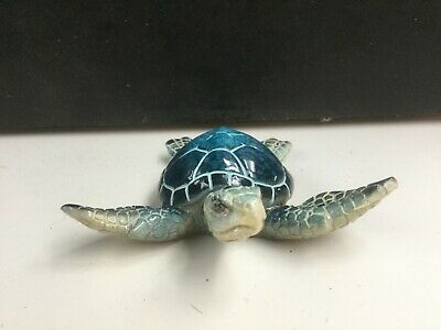 Resin  Blue Sea Turtle  Figurine