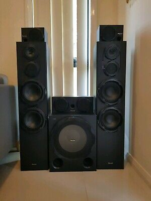 Pioneer 5 channel Speaker system with Active Sub-Woofer & Party Light