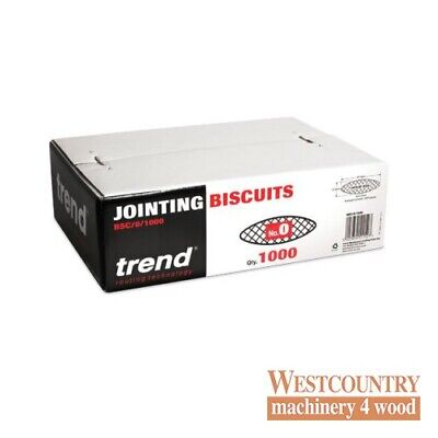 TREND BSC/0/1000 BISCUITS for Biscuit Jointer Size 0 box of 1000