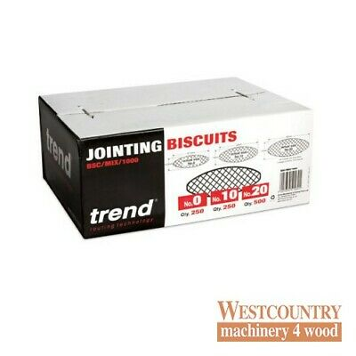 TREND BSC/MIX/1000 BISCUITS for Biscuit Jointer Mixed Sizes box of 1000