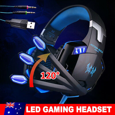 Gaming Headset MIC LED 3.5mm Headphones for Laptop PC PS4 Slim Pro Xbox One 360