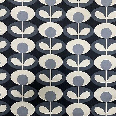 Orla kiely Oval Flower Cool Grey Fabric