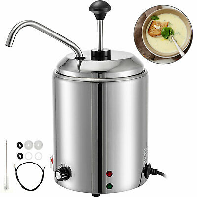 2.5L Counter Top Sauces Soup Nacho Cheese Chilis Kettle Warmer Resto Bar Party
