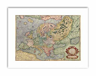 MAP ANTIQUE EUROPE EUROPA MERCATOR GEOGRAPHY Poster Canvas art Prints