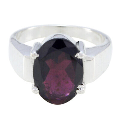 Garnet Rings 925 Silver Ring Red Ring Gems Jewelry Gemstone Grand Parents Day UK