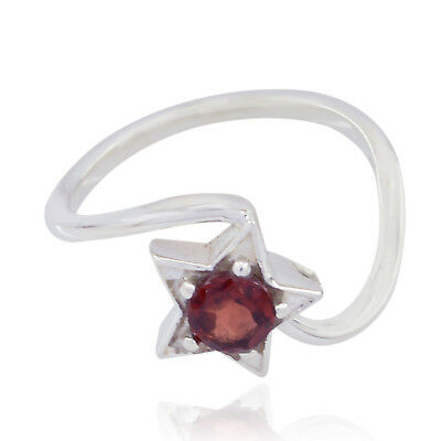Lovely Gemstones Round Faceted Garnet ring 925 Silver gift cyber Monday day UK
