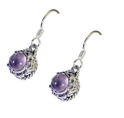 exporter 925 Sterling Silver grand Natural Pink Earring gift UK