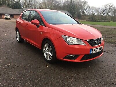 2014 Red Seat Ibiza Toca 1.4 Petrol Manual 12 Month Mot 25,618 Miles 5 Door Fsh