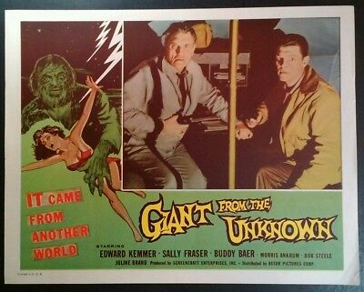 1958 Giant from the Unknown Edward Kemmer Horror movie poster print