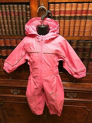 Pink Regatta Waterproof Breathable Puddle Rainsuit All-in-One 6-12 Months - New
