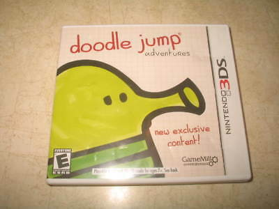 Doodle Jump Adventures (Nintendo 3DS, 2013) - Complete - Tested - DS **READ**