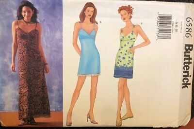 Butterick 6586 Sewing Pattern Misses Dress 2 Lengths Easy Size 6-8-10 Uncut FF