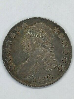 1830 Capped Bust Half Dollar Vf-Xf Details