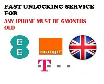 Unlocking Service For Iphone 4,5,5S,5C,6,6+,6S,6S+,7,7+ Ee Tmobile & Orange Uk