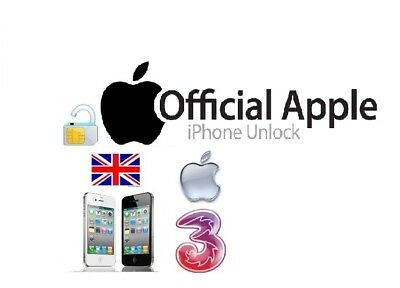 Unlocking Code Service For Three 3 Hutchison Uk Iphone3Gs 4S 5 5S 5C,Se 6 6+ 6S+