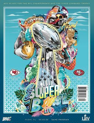 Super Bowl LIV 54 Official National Program Kansas City Chiefs vs 49ers - NEW!