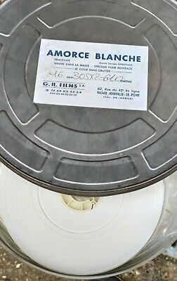 Bobine  amorce 16mm blanche triacetate