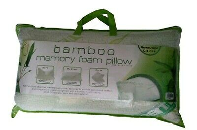 Luxury Bamboo Memory Foam Pillows with Removable Cover pack of 2