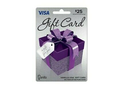$25 Vanilla Gift Card. Activated, No Extra Fees. Ready to Use! Free Shipping!!