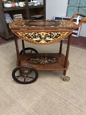 Vintage Italian Inlaid Cart
