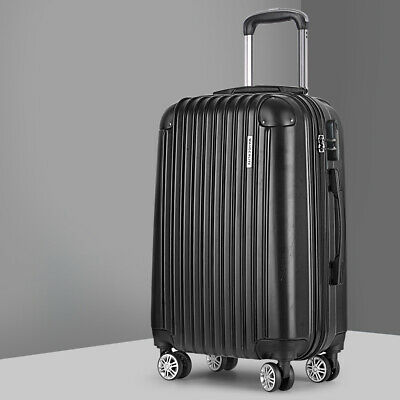 24-inch Check In Travel Luggage Trolley Hard Case Bag Lightweight Suitcase Lock