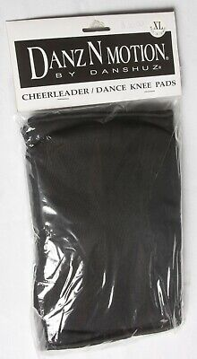 New Black Danz N Motion Cheerleader / Dance Knee Pads by Danshuz (Sizes S to XL)
