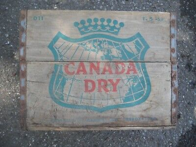 Vintage CANADA DRY GINGER ALE Wood Crate / Box D11 T - 5 - 59 1959