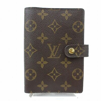 Authentic Louis Vuitton Diary Cover Agenda PM Browns Monogram 187584