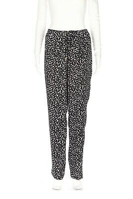 MICHAEL KORS Print Pants Large Black White Loose Fit Stretchy Elastic Waist