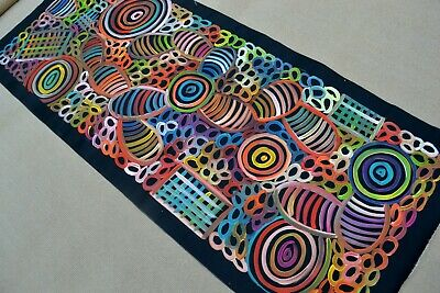 SHARON  NUMINA 155 x 65 cm Original Painting - Aussiepaintings Aboriginal Art