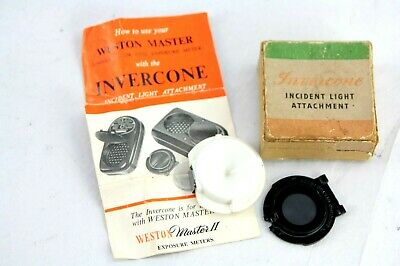 Early Type INVERCONE FOR WESTON MASTER 1-3, boxed + instructions