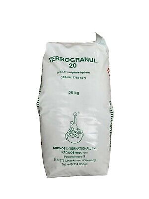 Iron Sulphate 25Kg - Soluble Lawn Tonic, Grass Turf Hardner, Moss Control