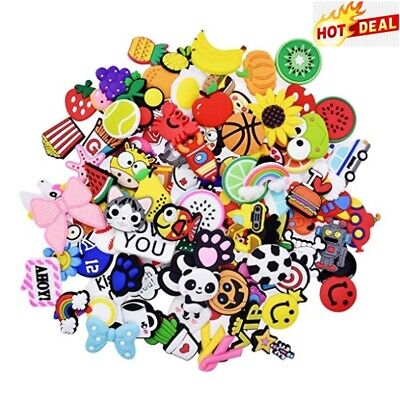 50 Shoecharm Lot Decoration Kid Shoe Charms Croc Jibbitz Wristband Band Bracelet