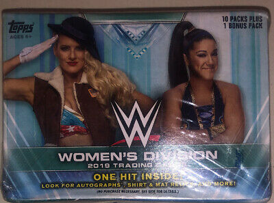 2019 Topps WWE Women's Division EXCLUSIVE Factory Sealed 16 Box CASE-16 HITS!
