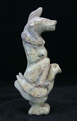 Chinese Carved Nephrite Hardstone Figure of Mythical Beast Riding a Bird